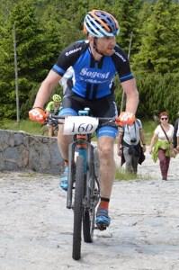 Andrzej na rowerze