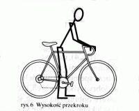 Wysokość przekroku stojąc nad rowerem