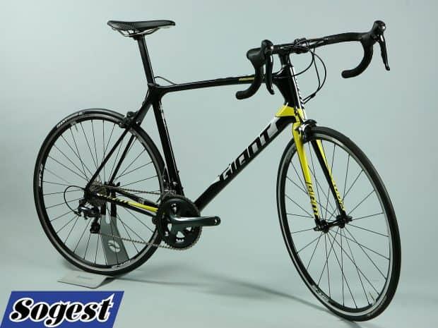 rower tcr adv L czarno żółty