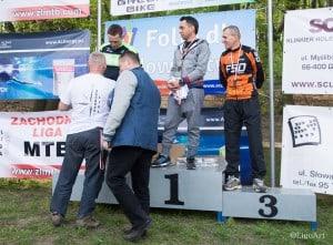 Marcin na podium wyścigu rowerowego