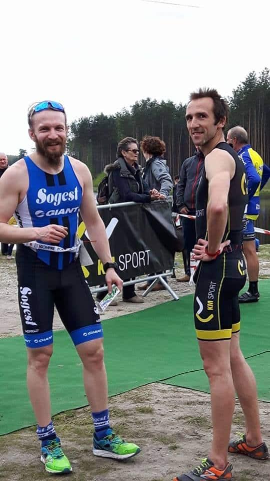 Krystian z Pawłem po rowerze i biegu