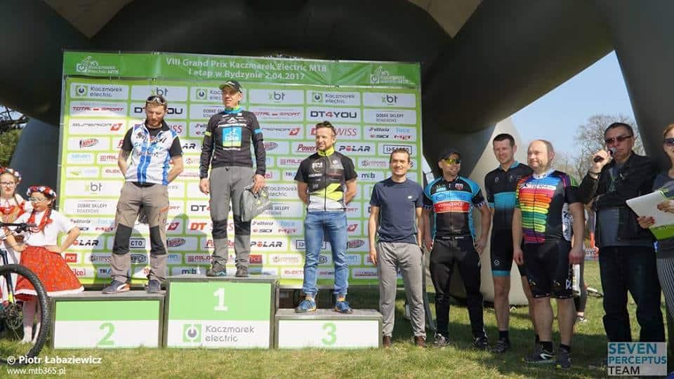 Andrzej na drugim miejscu na podium